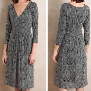 Maeve midi dress deep v . With belted waist